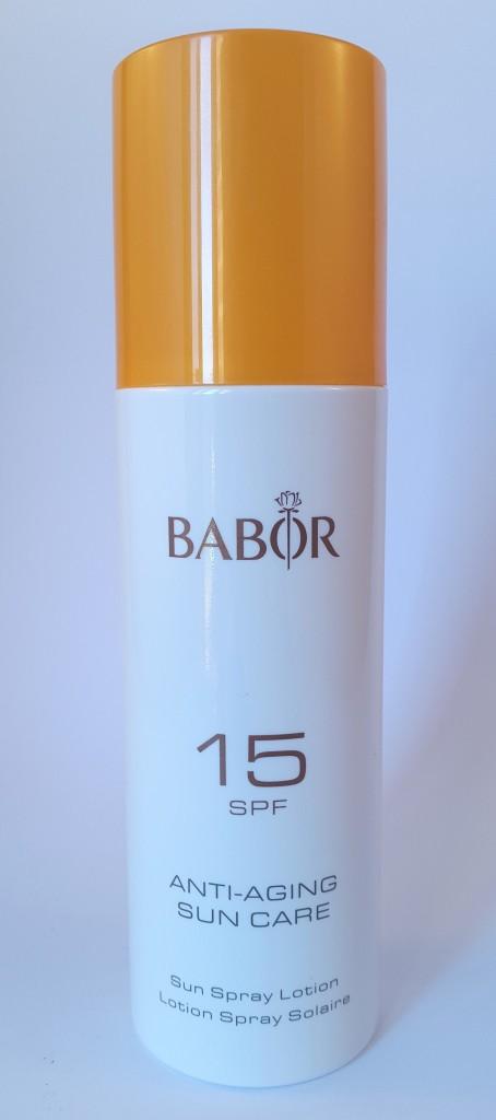 BABOR Anti-Aging Sun Care Sun Spray Lotion SPF15  Pretty Please Charlie reviews