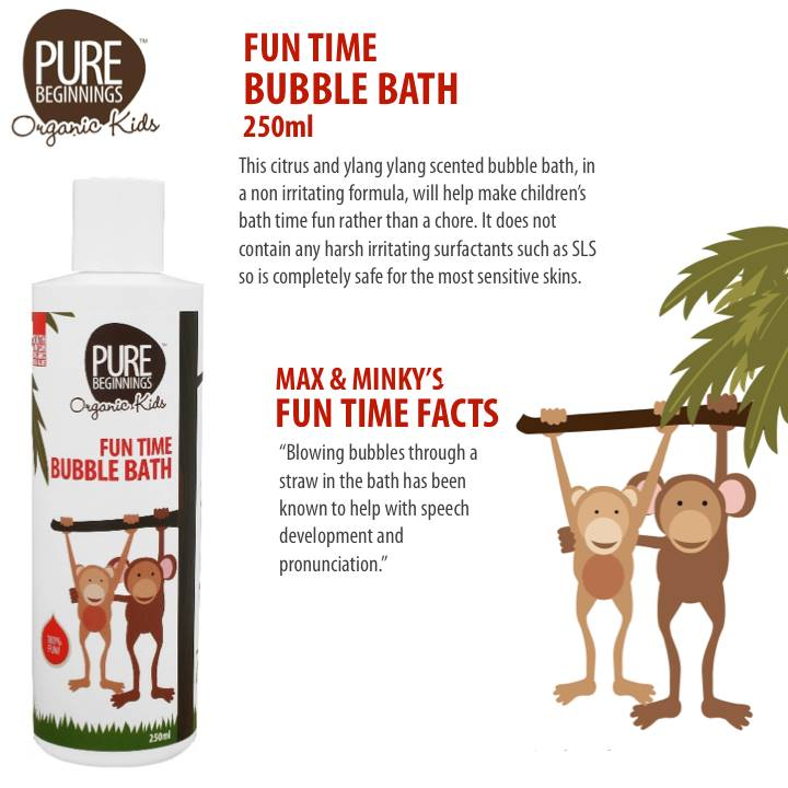 Pure Beginnings Organic Kids Fun Time Bubble Bath Review Pretty Please Charlie