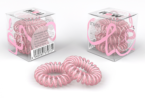 Limited Addition Pink Power invisibobble for Breast Cancer Awareness