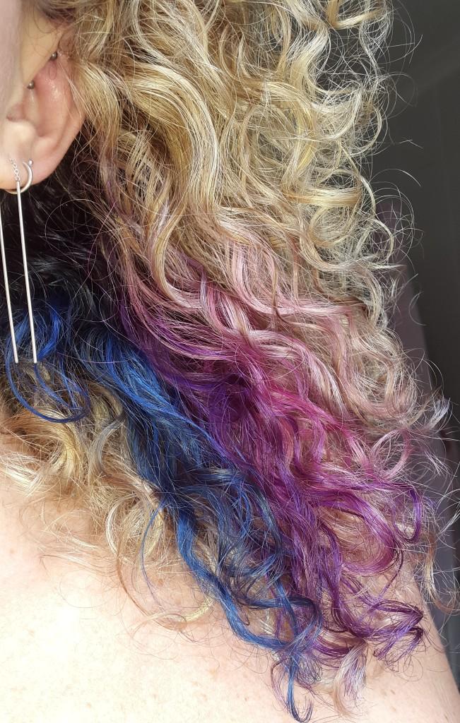 DIY blue and purple hair Pretty Please Charlie