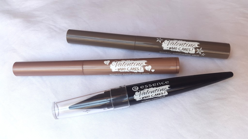 essence Valentine - Who Cares Trend Edition smokey eyeshadow sticks & smokey cream kajal
