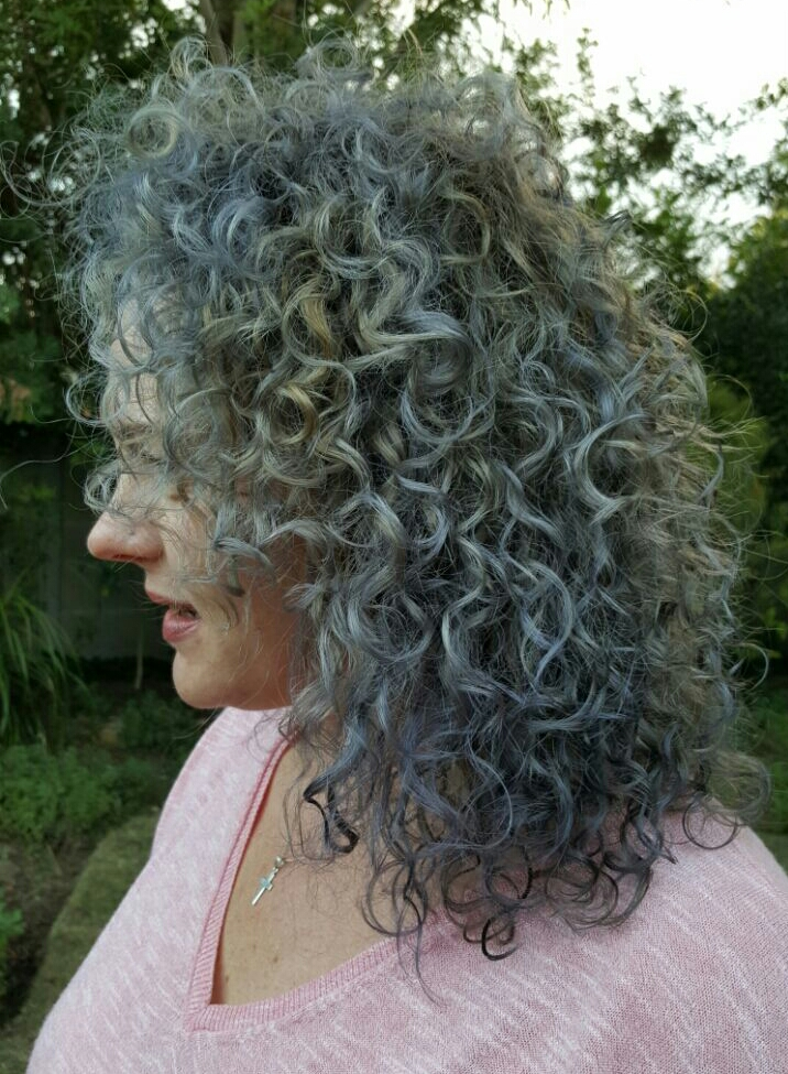 My Hair Makeover: From Blonde to Denim #denimhair