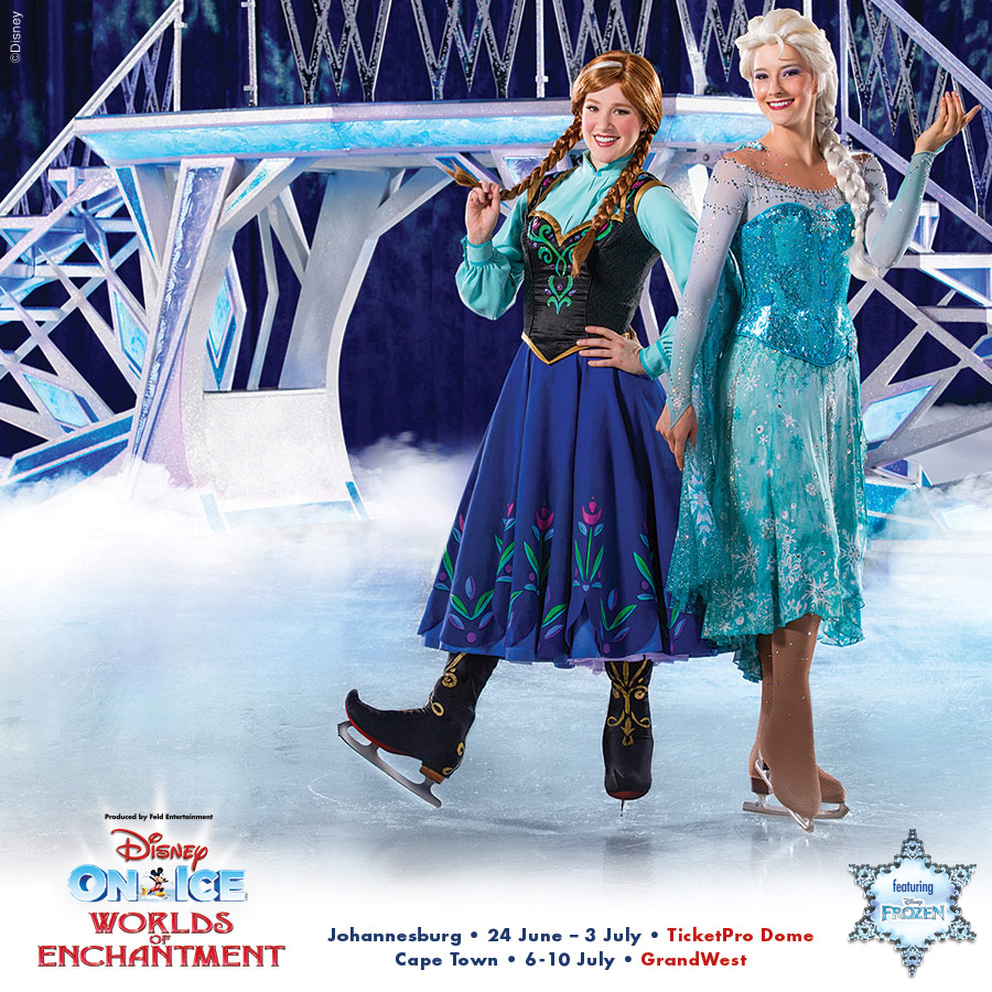 WIN 1 of 2 sets of family tickets to Disney On Ice 2016 Worlds of Enchantment