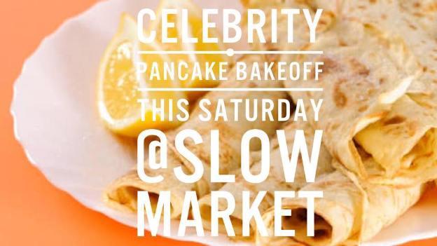 Celebrity Pancake Bakeoff with Ewan Strydom, Vicky Davis and Nedine Blom at Slow Market