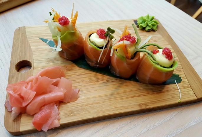 Ben Wei banting sushi
