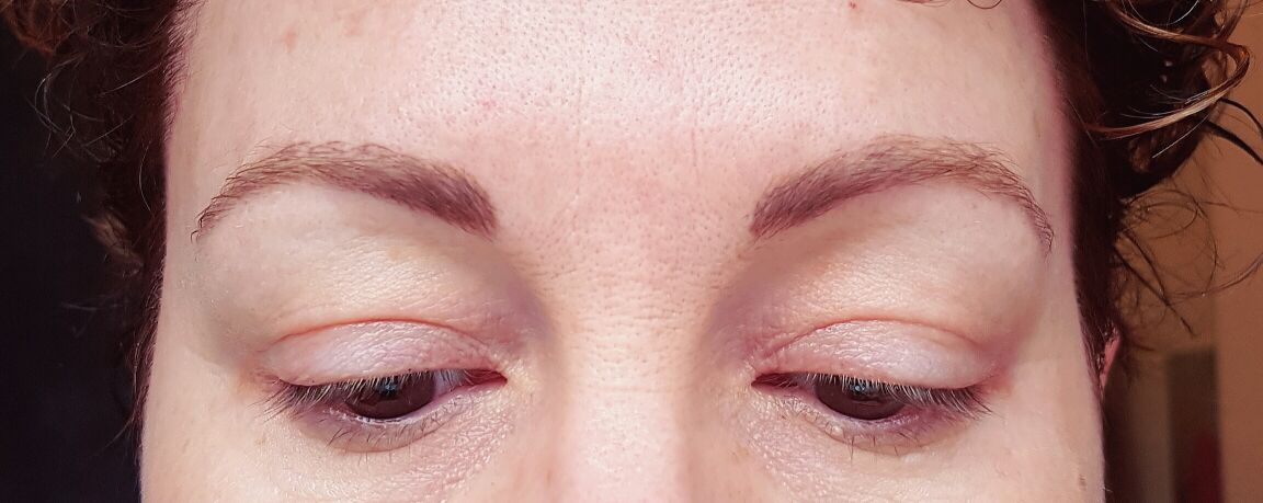 Healed microbladed brows