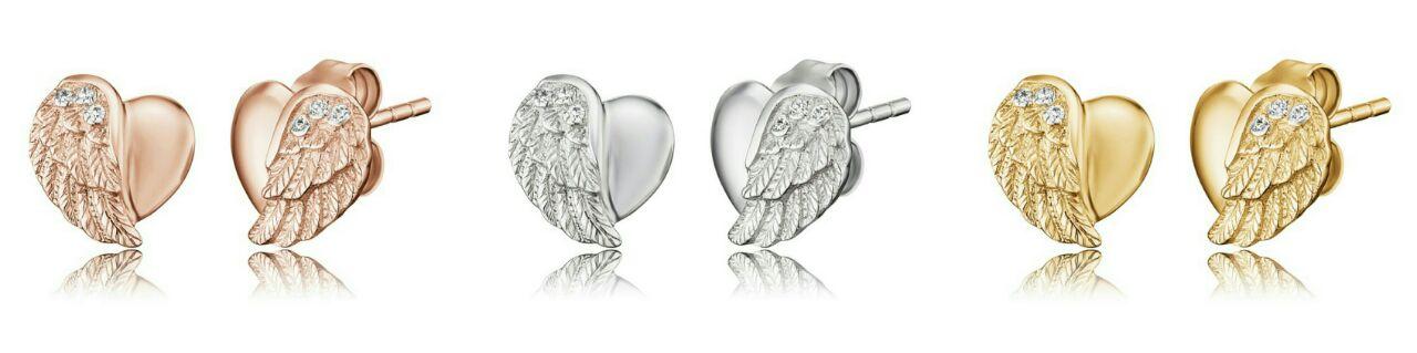 Engelsrufer Lil' Heartwing earrings
